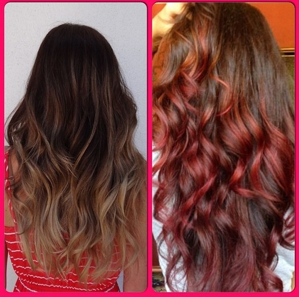 Red curly hairstyles for long hair instagram