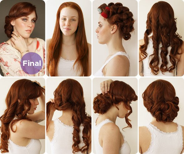 Permalink to Curly Updo Hairstyles Tutorial