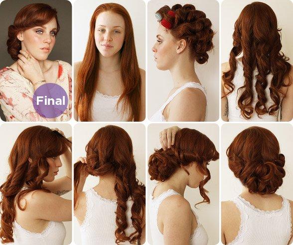 Tremendous 14 Glamorous Retro Hairstyle Tutorials Pretty Designs Short Hairstyles Gunalazisus