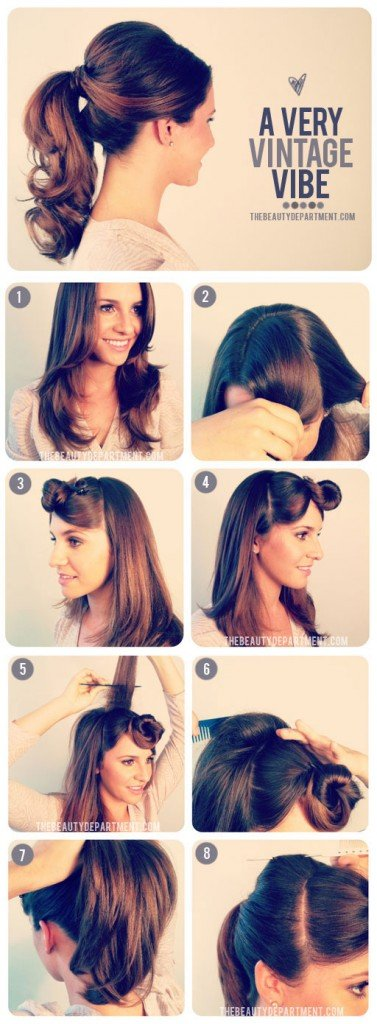 1950's Ponytail Hairstyle Tutorial