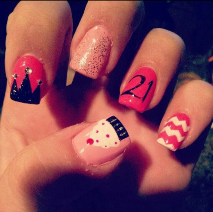 50 Stylish Happy Birthday Nail Art Ideas