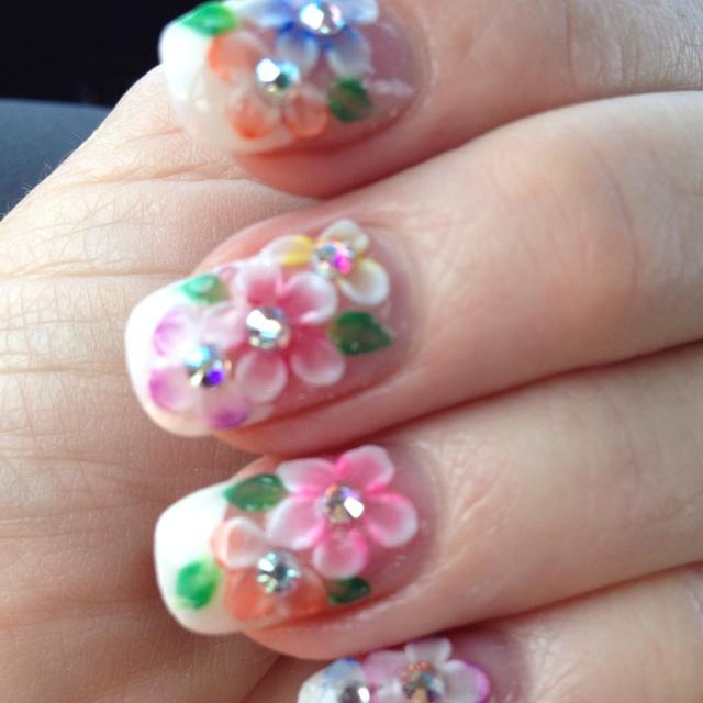 3D Flower Nails