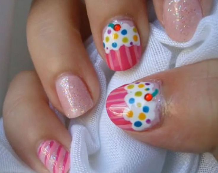 14 Awesome Cupcake Nail Art Designs For Girls Pretty Designs