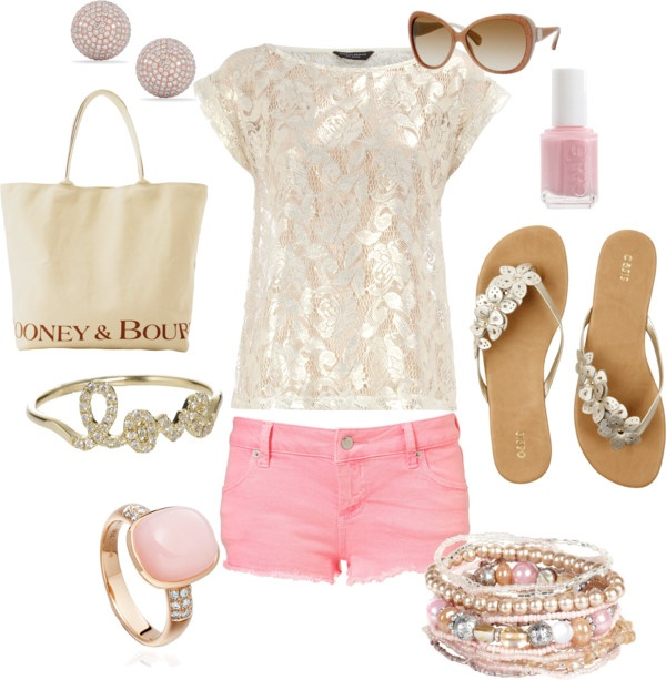 Adorable Pink Outfit Idea for Summer