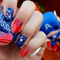 Amazing American Flag Inspired Nail Design