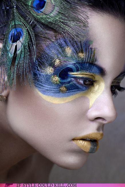 Amazing Peacock Inspired Eye Makeup Look
