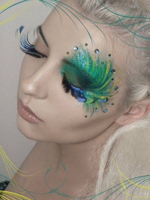 Artistic Peacock Inspired Eye Makeup Look