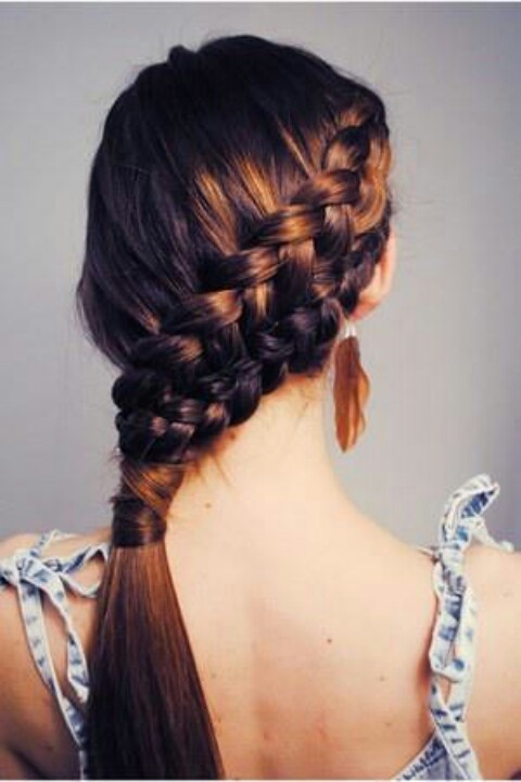 Beautiful Braided Hairstyle for Brown Hair