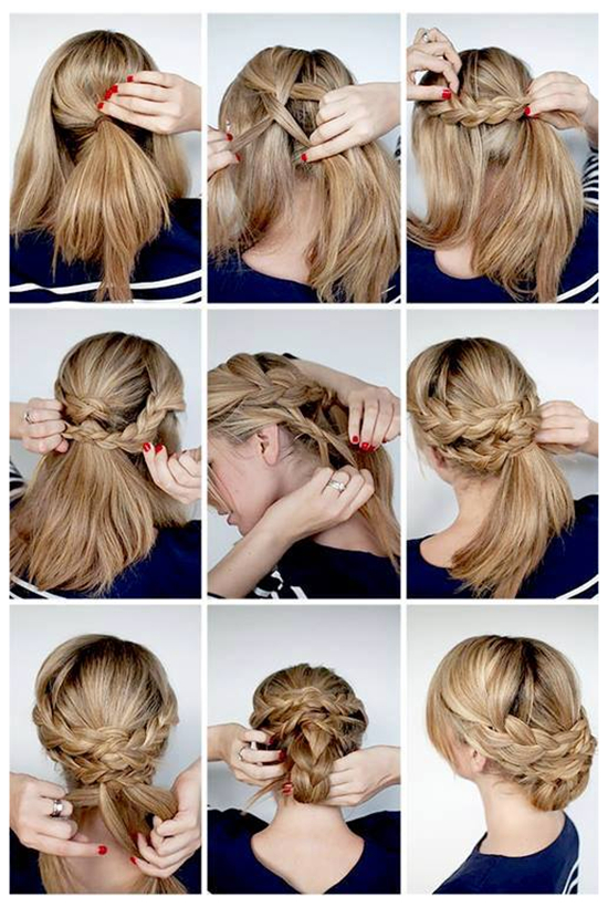 Beautiful Braided Updo Hairstyle Tutorial