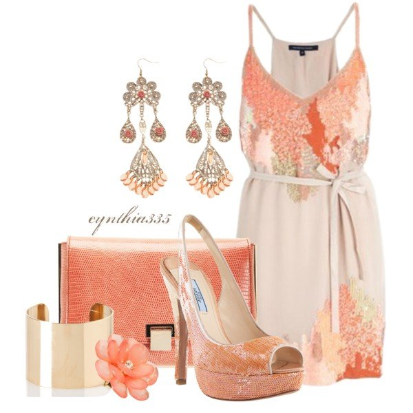Beautiful Coral Dress Outfit