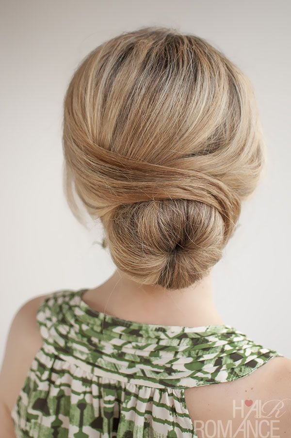 Beautiful Low Bun Hairstyle