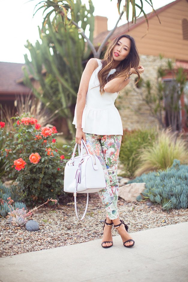 Beautiful Outfit Idea with Printed Pants