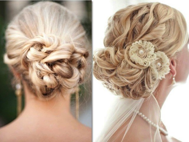 Beautiful Updo Hairstyle for Wedding