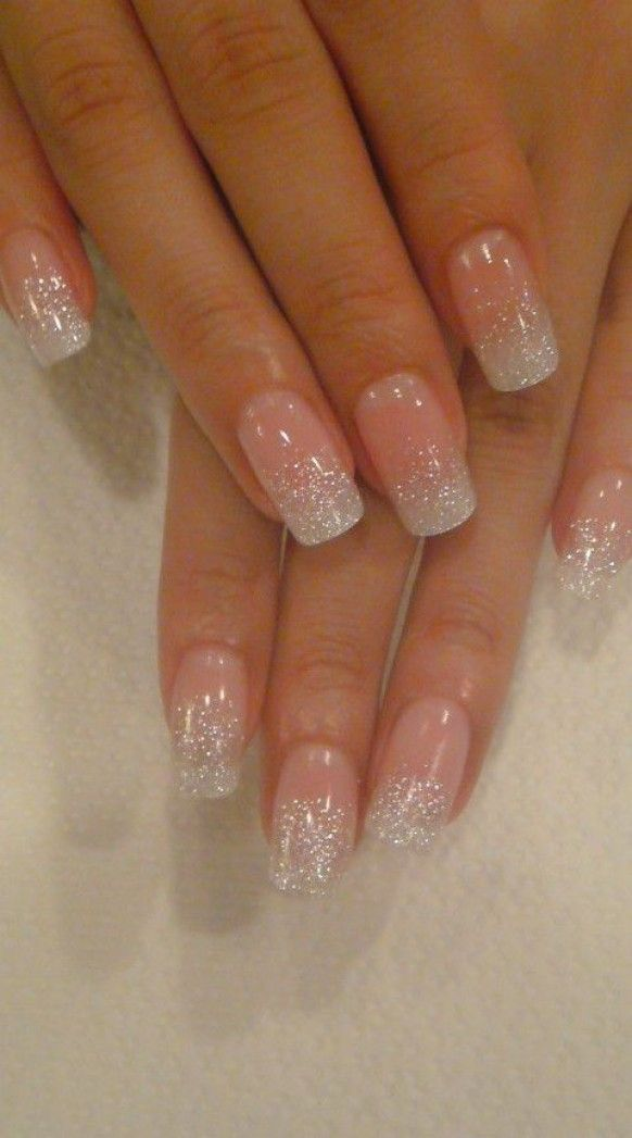 Beautiful Wedding Nail With Glitters