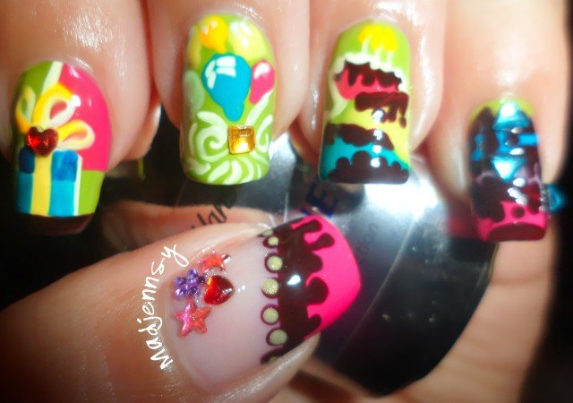 Birthday Party Nail Design
