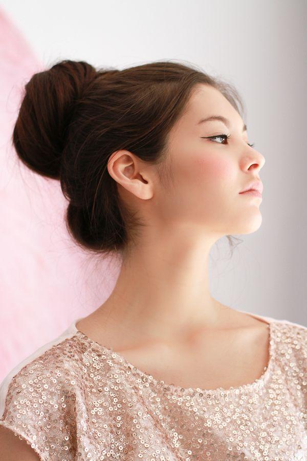 Black Eyeliner and Pink Blush