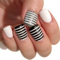 Black Grey and White Stripes