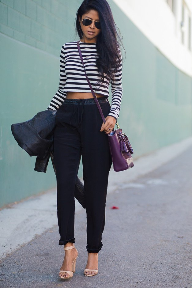 Trendy Outfit Idea with High Waisted Pants - Pretty Designs
