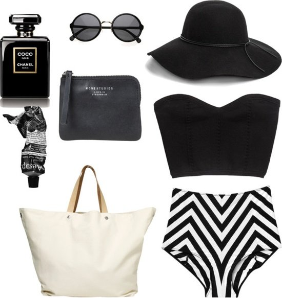 Black and White Outfit for Beach