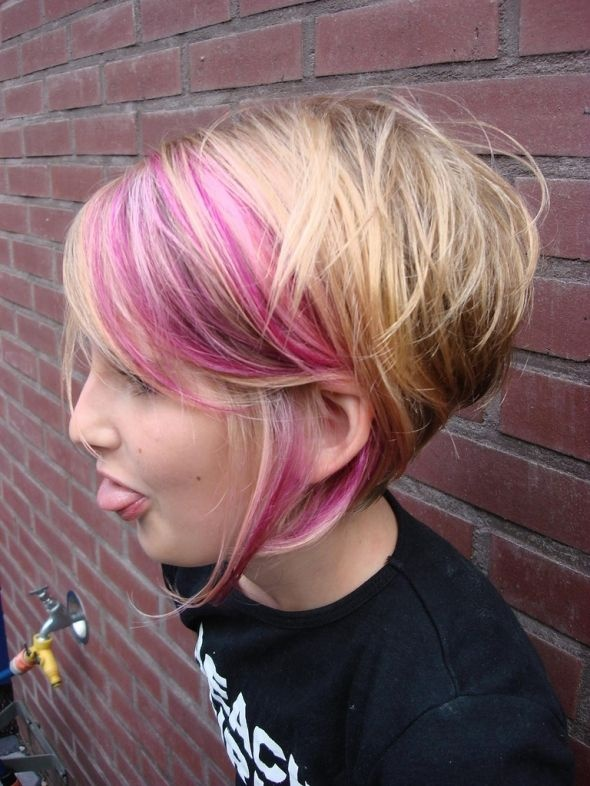 Blonde Bob with Purple Highlights