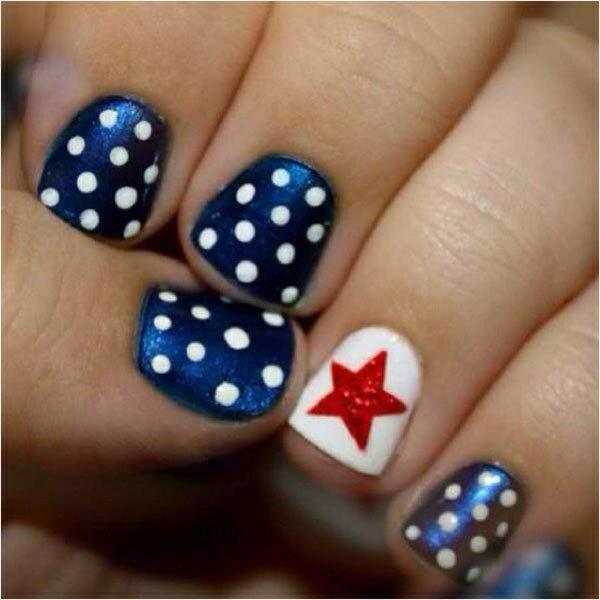 American Flag Inspired Nail Design - 15 Interesting American Flag Inspired Nail Designs - Pretty Designs