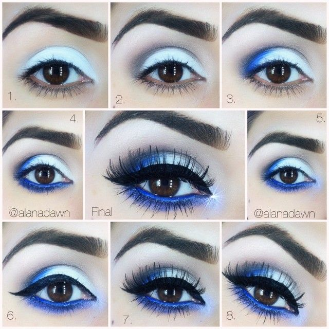 12 Chic Blue Eye Makeup Looks and Tutorials - Pretty Designs