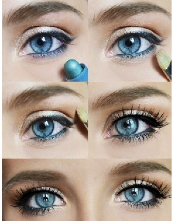 eye makeup for blue eyes. blue eye makeup tutorial for eyes