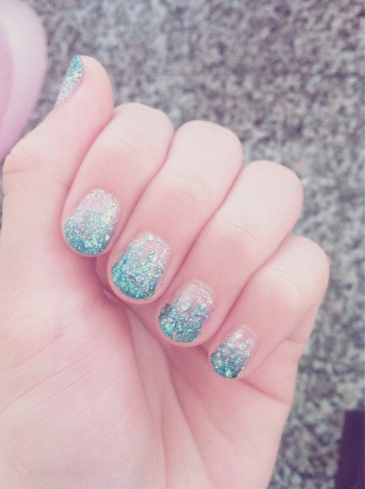 Light Blue Prom Nails