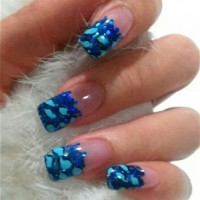 Blue Gel Nails