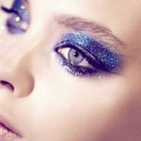 Blue Glittery Eye Makeup