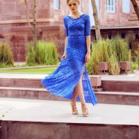 Blue Lace Dress for Date