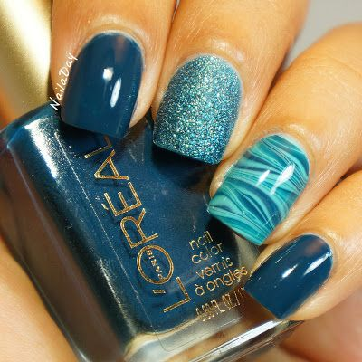 Nail art to try blue nail designs to pair a look pretty designs blue nail design prinsesfo Gallery