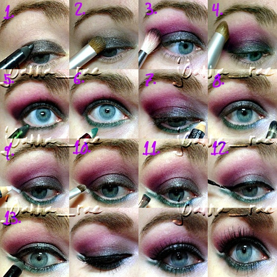 Blue and Purple Makeup Tutorial for Blue Eyes