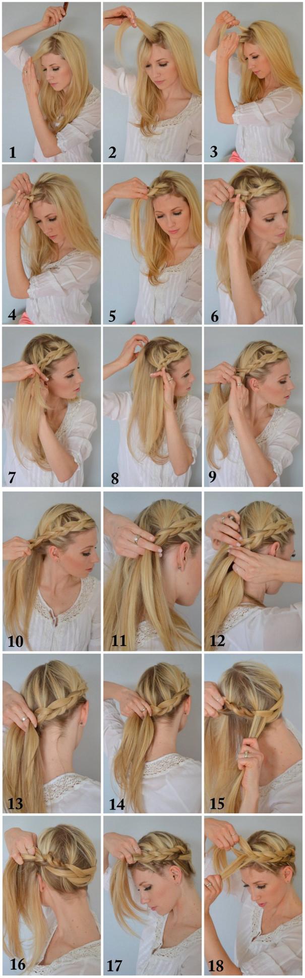 Boho Braided Crown Hairstyle Tutorial