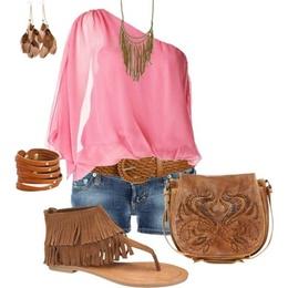 Boho Pink Outfit Idea