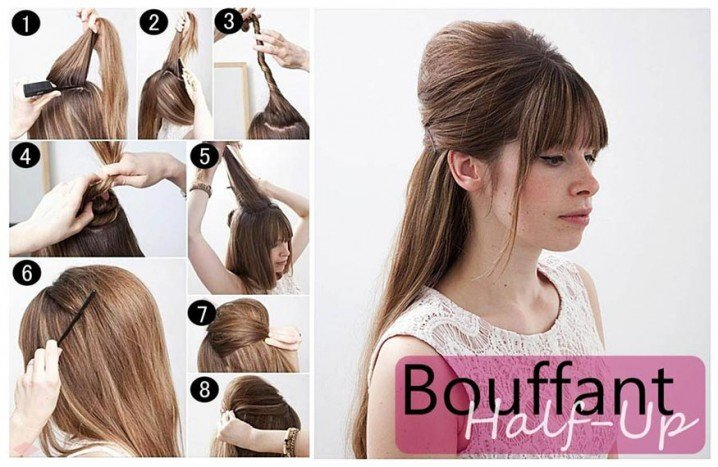 Bouffant Hairstyle Tutorial