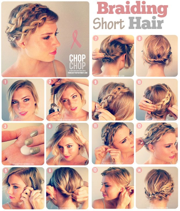 Braided Hairstyle for Short Hair via