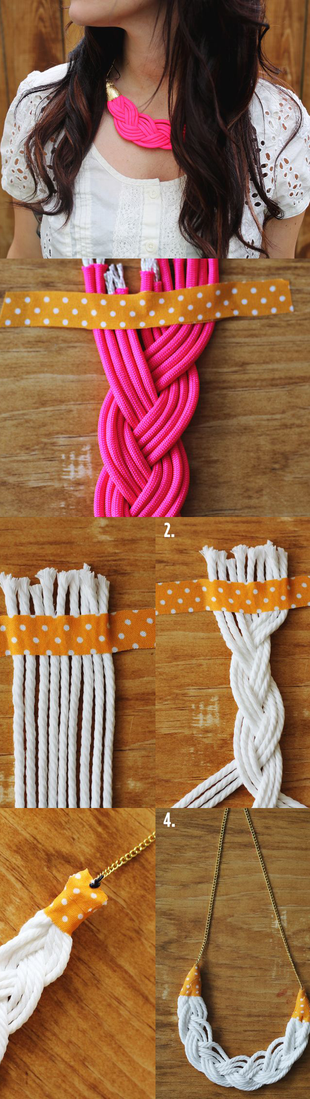 Braided Rope Necklace Tutorial