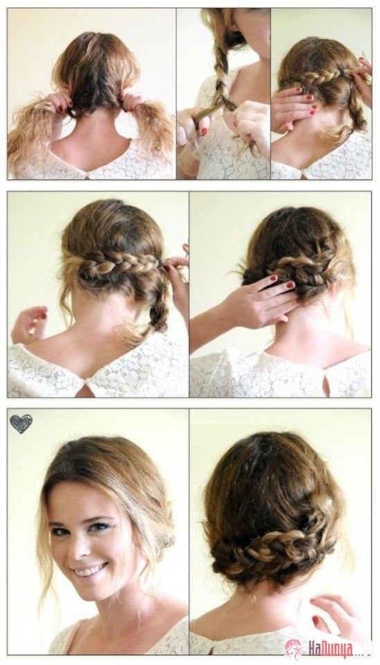 Hairstyles For Medium Length Hair And How To Do It : Simple hairstyle tutorials for summer pretty designs