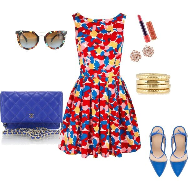 Bright Colored Dress for Young Women