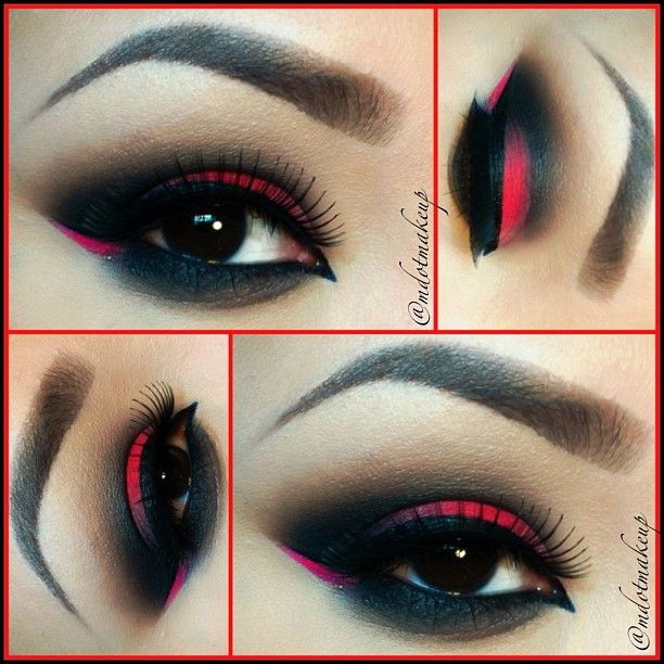 Bright Pink Smokey Eye Makeup