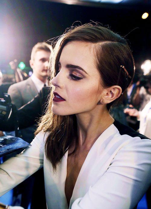 Burgundy Lips on Emma Waston