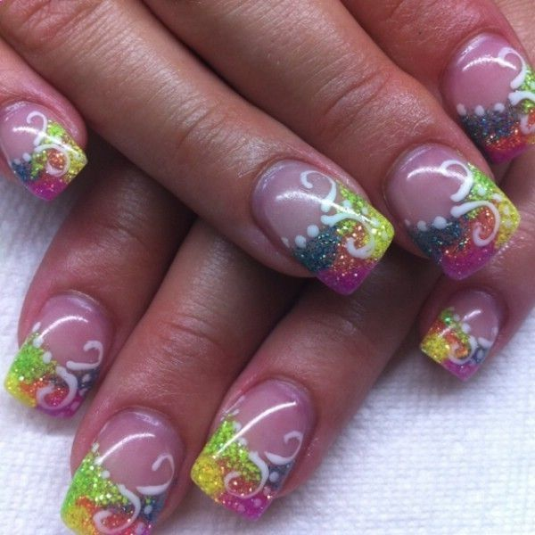 Butterfly Gel Nails