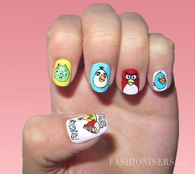 Interesting Cartoon Inspired Nail Art Design - Interesting Cartoon Inspired Nail Art Design - Pretty Designs