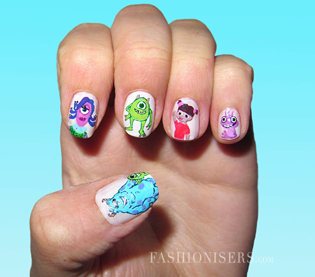 Interesting cartoon inspired nail art design pretty designs interesting cartoon inspired nail art design prinsesfo Image collections