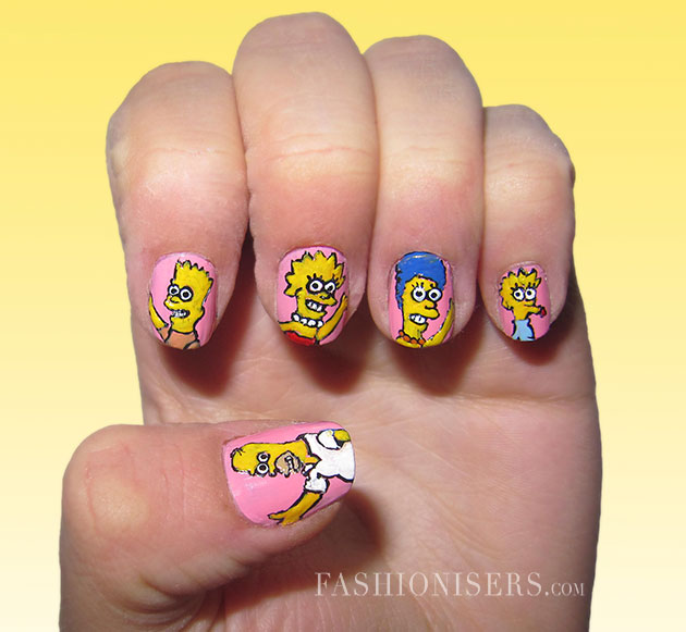 Cute cartoon inspired nail art design pretty designs cute cartoon inspired nail art design prinsesfo Image collections
