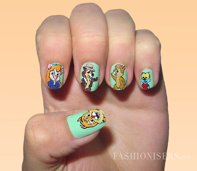 Cute cartoon inspired nail art design pretty designs cute cartoon inspired nail art design prinsesfo Images