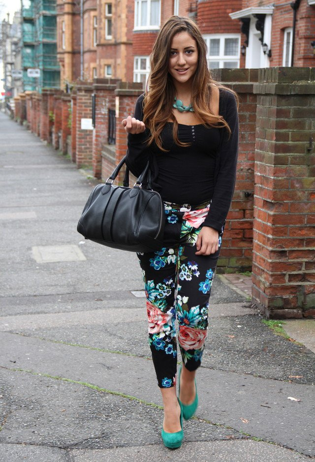 Casual Outfit Idea with Floral Pants