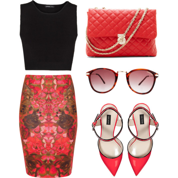 Chic Pencil Skirt Outfit Idea