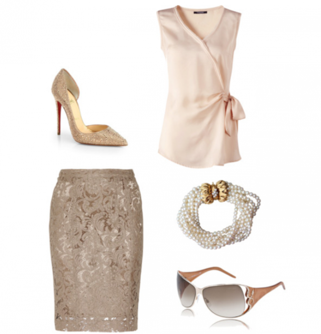 Classy Outfit Idea with Pencil Skirt